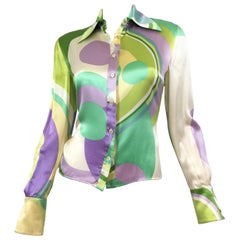 Gianni Versace Couture Silk Blouse Vintage