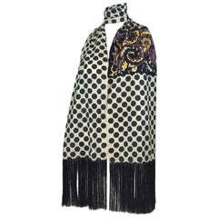Dries Van Noten Embellished Fringe Silk Scarf