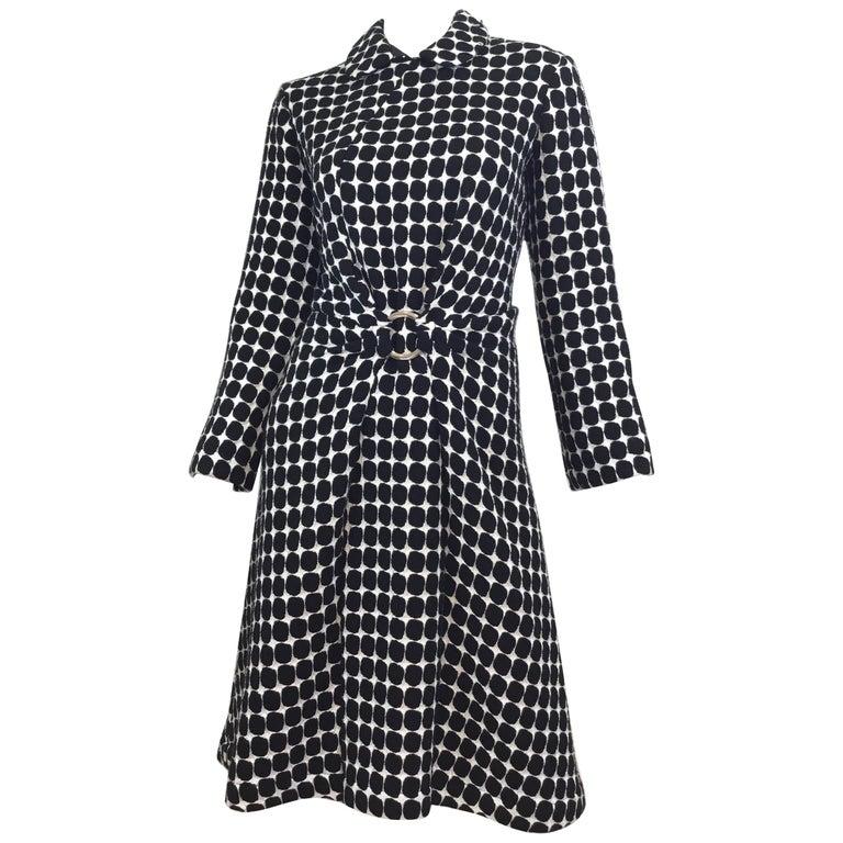 Junya Watanabe Comme des Garçons OP Art Coat Dress AD 2001
