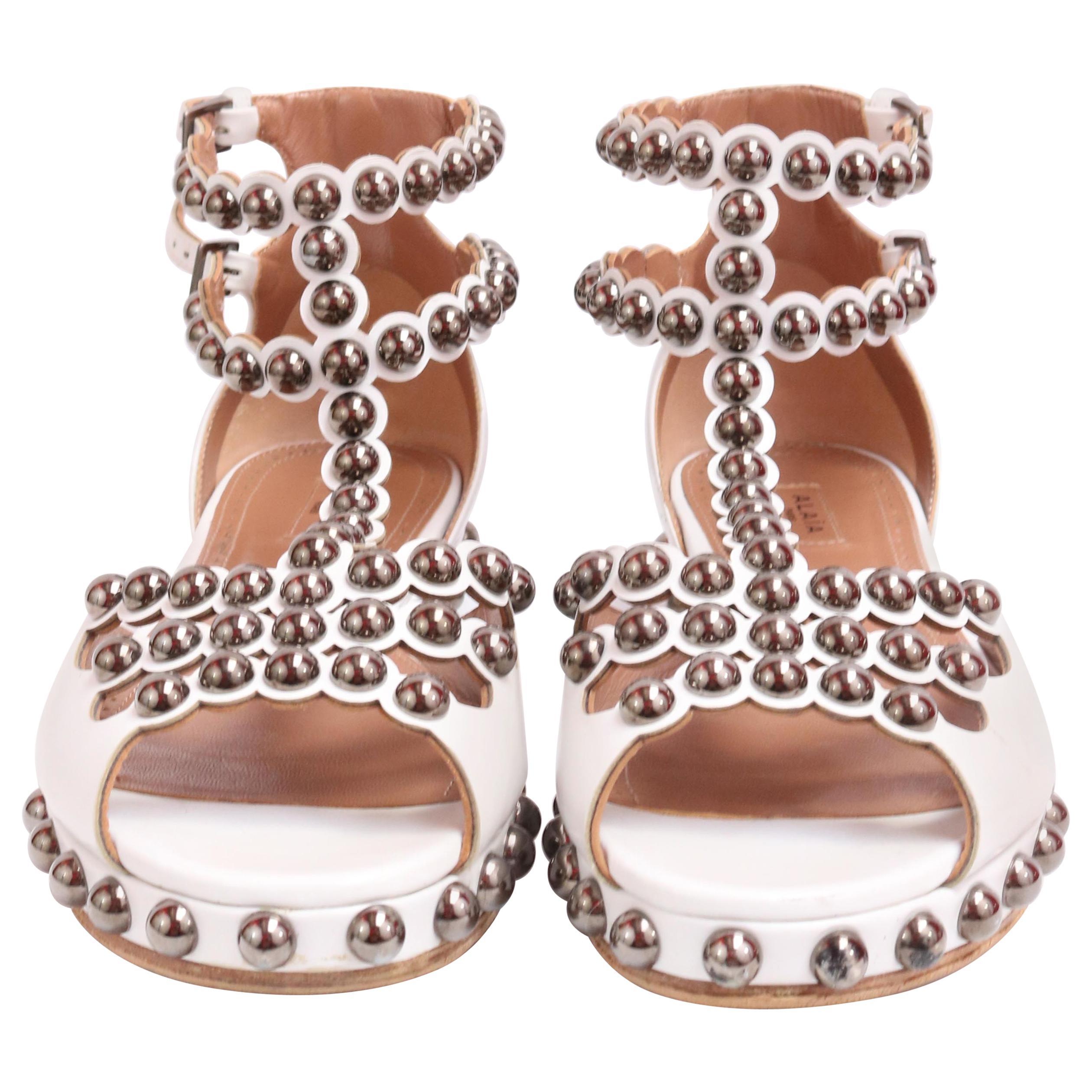 ALAIA White Gladiator Sandals Size 7