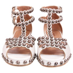 ALAIA White Gladiator Sandals Size 7