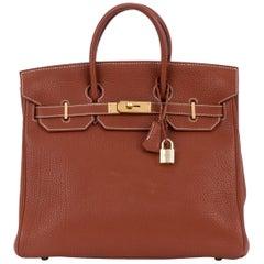 Hermes Birkin Hac 32 Fauve Fjord Gold Bag