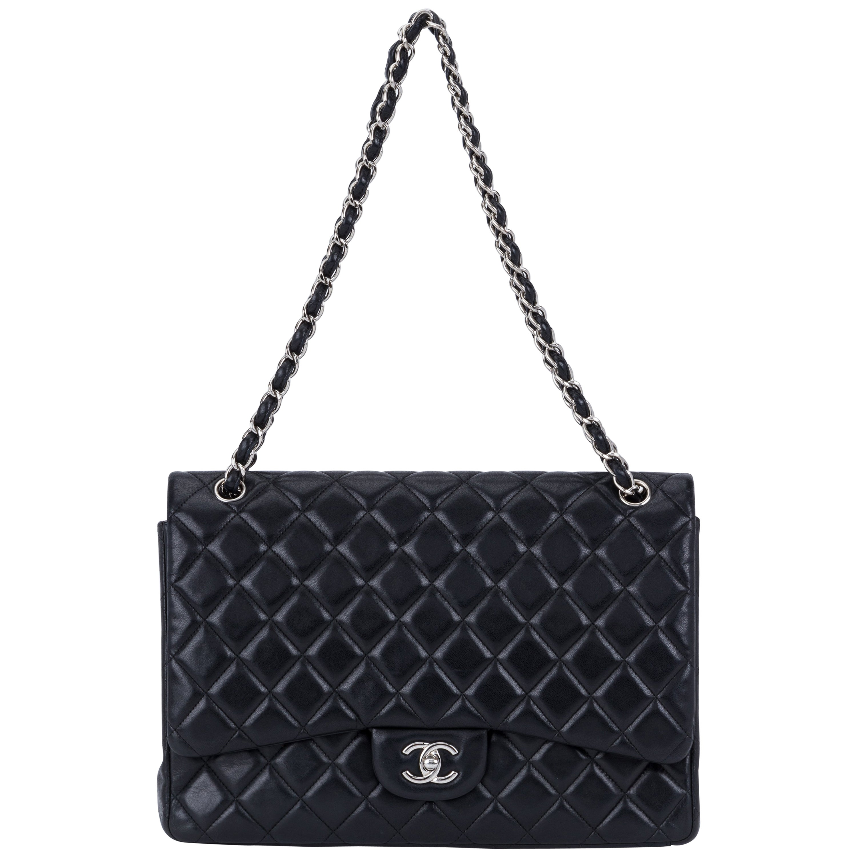 Chanel Black Maxi Single Classic Flap