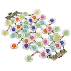 Eric Beamon Multicolor Lucite Link Bracelet with Charms