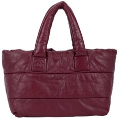 Chanel Coco Kokon Tasche aus burgunderfarbenem Leder