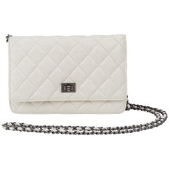 Chanel Reissue White Wallet On A Chain Bag