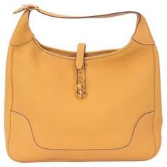 Hermes Trim 38 Shoulder Sable Clemence Bag