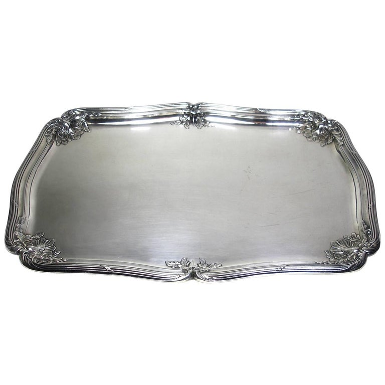 ANTIQUE French Silver Plated GALLIA by christofle Plateau Service Circa 1900 For Sale