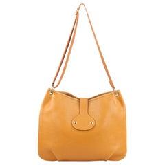 Hermes Vintage Tan Leather Rodeo Crossbody Bag