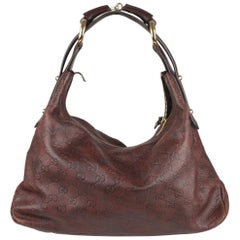 Gucci Brown Guccissima Leather Horsebit Hobo Shoulder Bag
