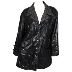 Chanel PVC/Boucle Coat - black