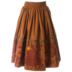 Worlds End, Cotton screen printed wrap skirt, Nostalgia of Mud AW 1982
