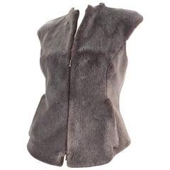 Chloé Faux Fur Zip Vest
