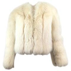 Sakowitz Fox Fur Chubby Jacket Vintage