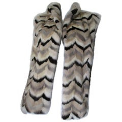 sleeveless chevron mink fur vest