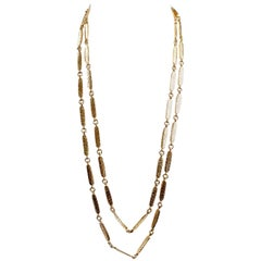 Chanel Vintage 24K Gold Plated Long Necklace