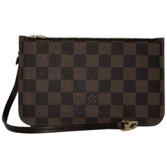 Louis Vuitton Damier Ebene Neverfull MM Pouch Only