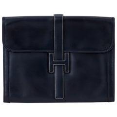 Hermès Oversize Box Calf Jige Clutch Bag