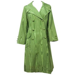 1970s Avocado Green Moire Coat