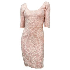 1960s Bink Sequin and Beaded Knit Dress