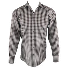 d40a4b5e8a TOM FORD Size M Brown Plaid Cotton Long Sleeve Shirt. New TOM FORD Size L  ...