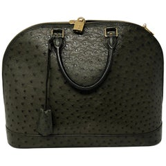 Louis Vuitton Ostrich Leather Alma Bag