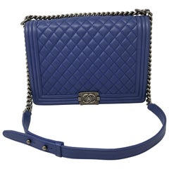 Chanel Blue Boy Bag