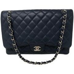 Chanel Navy Maxi Caviar Bag