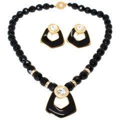 Bergdorf Goodman 1980s Vintage Necklace and Earrings Set