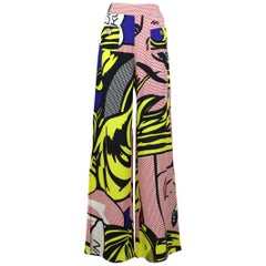 S/S 1991 Museum Held Moschino Cheap & Chic Roy Lichtenstein Print Trousers Pants