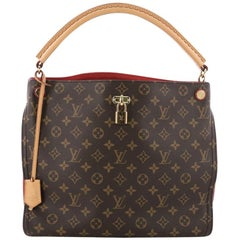 Louis Vuitton Gaia Handbag Monogram Canvas