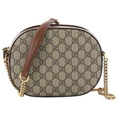 Gucci Chain Crossbody Bag GG Coated Canvas Mini