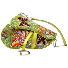 Dior Saddle Vintage Bag Limited Edition Butterfly