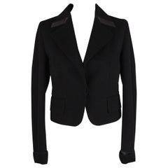Gucci Black Baize Blazer Jacket Tom Ford Era Size 42