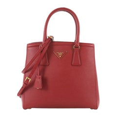Prada Lux Convertible Open Tote Saffiano Leather Small