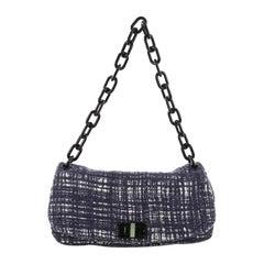 Prada Tela Flap Bag Tweed Medium