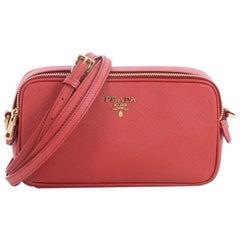 Prada Double Zip Crossbody Bag Saffiano Leather Mini