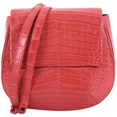 Nancy Gonzalez Convertible Flap Crossbody Bag Crocodile Small