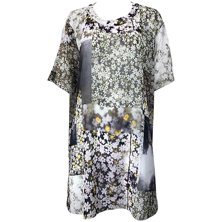 2ed7d62e9ebf Rare Maison Margiela Optical Illusion Photo Print Oversized T Shirt Dress  Tunic For Sale