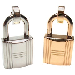 INEDIT Set 2 Romance Mini Hermès Cadenas Buckle for strap in 13 mm / BRAND NEW