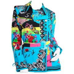 Versace Multicolor Marlene Printed Blouse -Size 40