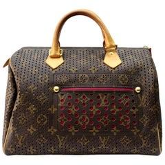 Fuchsiarote perforierte Speedy 30 Tasche von Louis Vuitton, Limited Edition