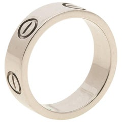 Cartier Love Platinum Band Ring Size 48