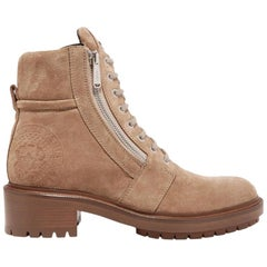 Balmain Natural Ranger Suede Ankle Boots