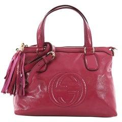 Gucci Soho Convertible Soft Top Handle Bag Patent