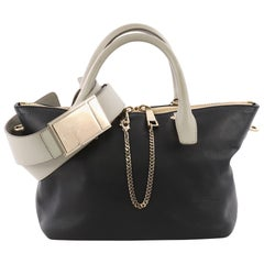 Chloe Bicolor Baylee Satchel Leather Medium