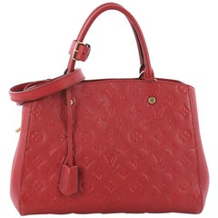 Louis Vuitton Montaigne Handbag Monogram Empreinte Leather MM