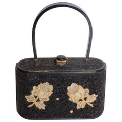 Vintage Bakerlite Bag with Bead Detail