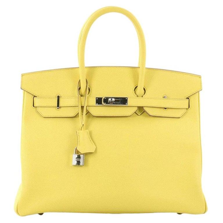 92d26d5a837 Hermes Birkin Handbag Soufre Epsom with Palladium Hardware 35