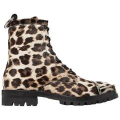 Alexander Wang Lyndon Embellished Leopard-Print Calf Hair Ankle Boots